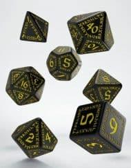 Polydice Set Q-Workshop Runic Black & Yellow
