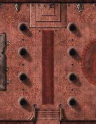 Playmat Red Hall of Vor Rukoth D&D