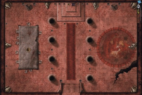 Playmat Red Hall of Vor Rukoth D&D