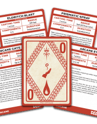 Spellbook Cards Arcane Dungeons and Dragons 5.0