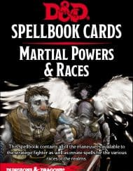 Spellbook Cards Martial Powers & Races D&D 5.0