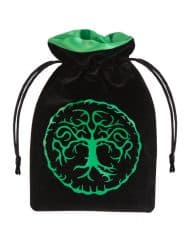 Dice Bag Forest Black & green Velour Q-Workshop