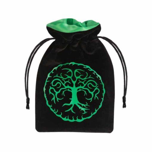 Dice Bag Forest Black & green Velour Q-Workshop
