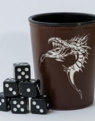 Dobbelbeker Dragon Brown Dice Cup