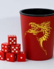 Dobbelbeker Dragon Red Dice Cup