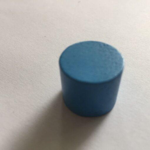 Houten Pion Blauw 16mm per stuk (Speelstuk / Tokkens)