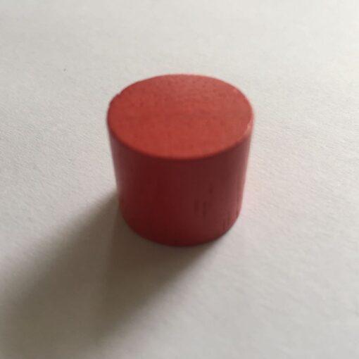 Houten Pion Rood 16mm per stuk (Speelstuk / Tokkens)