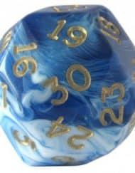 30 Vlakken Dobbelsteen Gemêleerd Blauw Gold 30mm zijdige D30 kopen