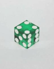Casino Dobbelstenen Groen met Wit 19mm