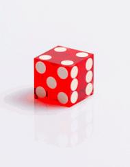 Casino Dobbelstenen Rood met Wit 19mm