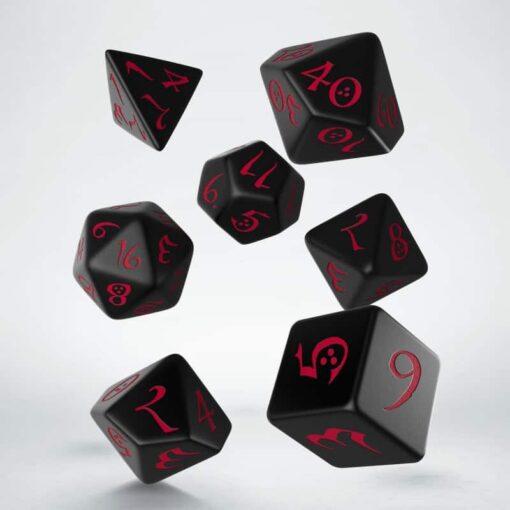 Polydice Set Q-Workshop Black Red