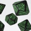 Polydice Set Q-Workshop Call of Cthulhu 7th Edition Black Green kopen