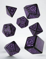 Polydice Set Q-Workshop Call of Cthulhu Horror on the Orient Express Black Purple