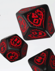Polydice Set Q-Workshop Dragons Black Red kopen