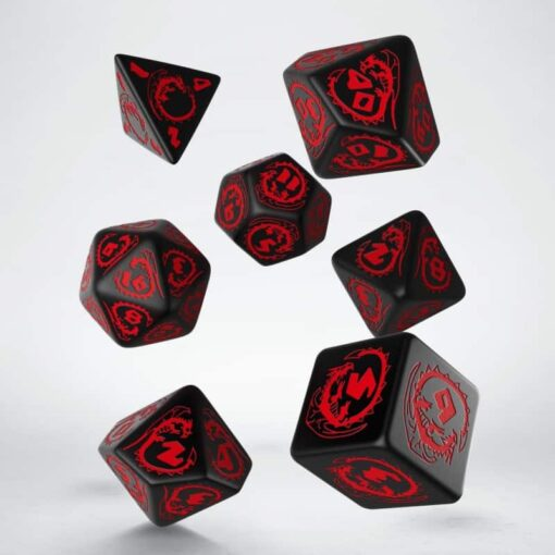 Polydice Set Q-Workshop Dragons Black Red