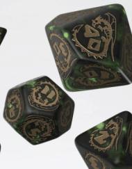 Polydice Set Q-Workshop Dragons Bottle-Green Gold kopen