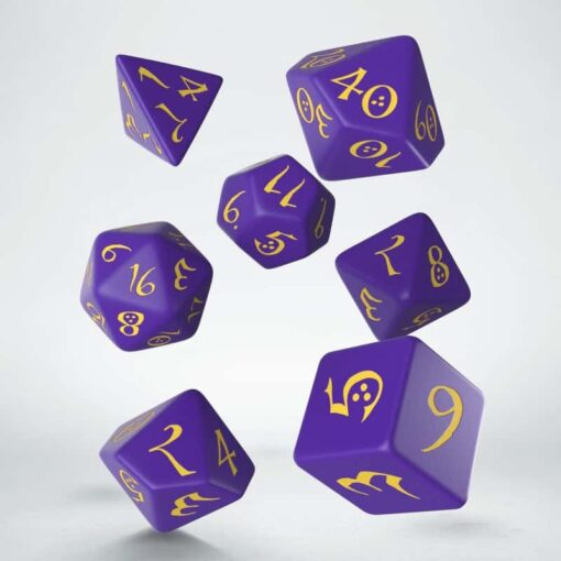 Polydice Set Q-Workshop Purple Yellow