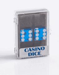 Precision Casino Dobbelstenen Blauw met Wit 19mm Set van 2