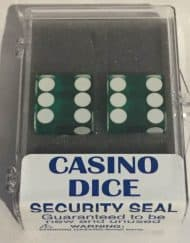 Precision Casino Dobbelstenen Groen met Wit 19mm