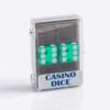 Precision Casino Dobbelstenen Groen met Wit 19mm Set van 2