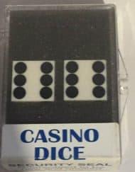 Precision Casino Dobbelstenen Wit met Zwart 19mm