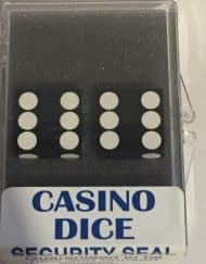 Precision Casino Dobbelstenen Zwart met Wit 19mm