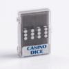 Precision Casino Dobbelstenen Zwart met Wit 19mm Set van 2