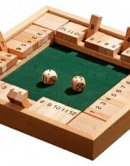 Shut the Box 12 Dobbelspel 4 personen 24x24x3,4cm