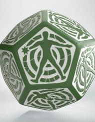 12 Vlakken Hit location Dice 30mm Green White