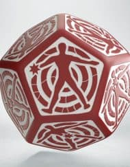 12 Vlakken Hit location Dice 30mm Red White