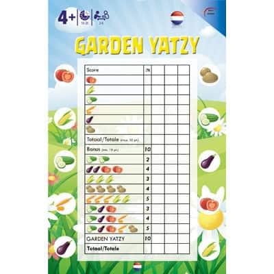 kinder yahtzee garden yatzy - dobbelstenenshop