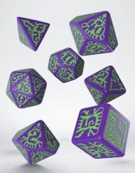Pathfinder Polydice Dice Set Goblin Purple Green