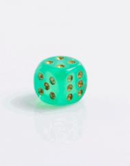 6 Vlakken Dobbelsteen Borealis II Light Green Gold 16mm