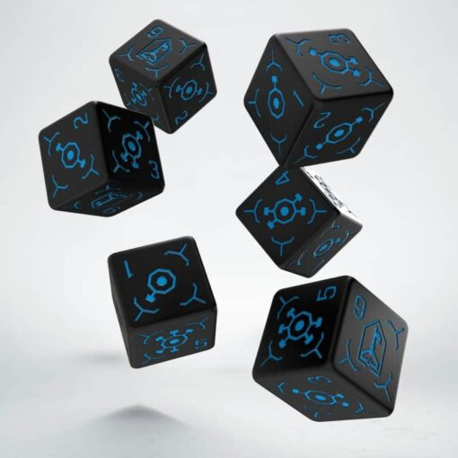 6 Vlakken Ingress Enlightened Dice Q-Workshop Set van 6