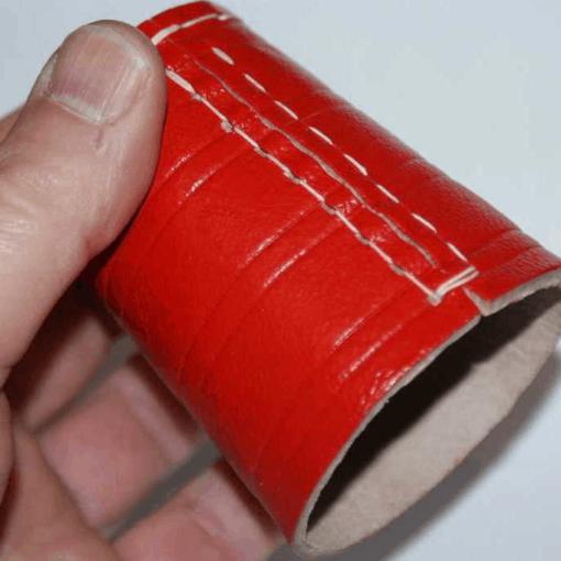 Lederen Dobbelbeker   Pokerbeker Rood 8cm