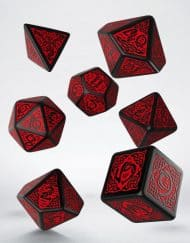 Polydice 7 Celtic Black Red Q-Workshop