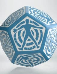 12 Vlakken Hit location Dice 30mm Blue White