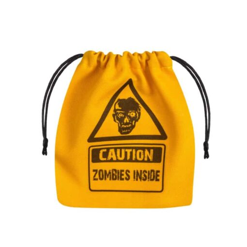 Dice Bag Zombie Yellow Black Q-Workshop