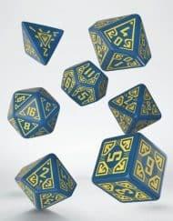Polydice Set Q-Workshop Arcade Blue Yellow