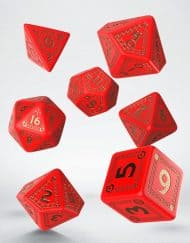 Polydice Set Q-Workshop Runequest Red Gold