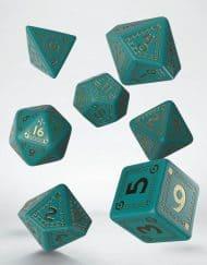 Polydice Set Q-Workshop Runequest Turquoise Gold