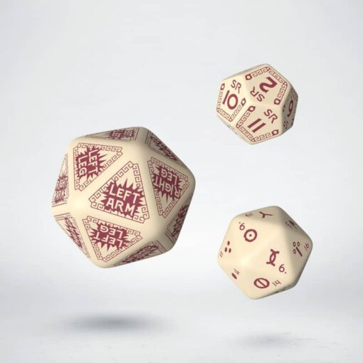 Q-Workshop Runequest Expantion Dice Beige Burgundy