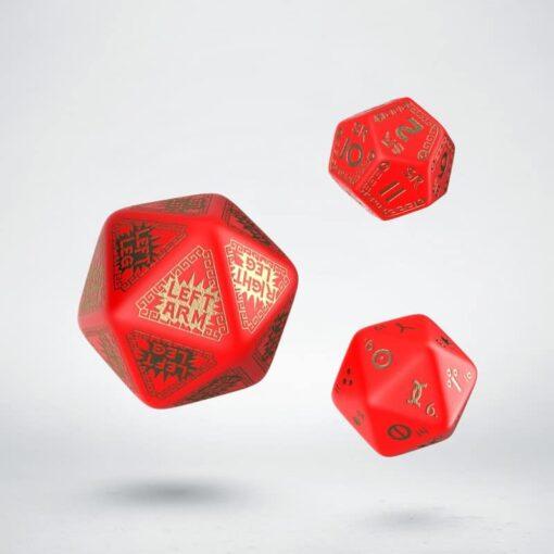 Q-Workshop Runequest Expantion Dice Red Gold
