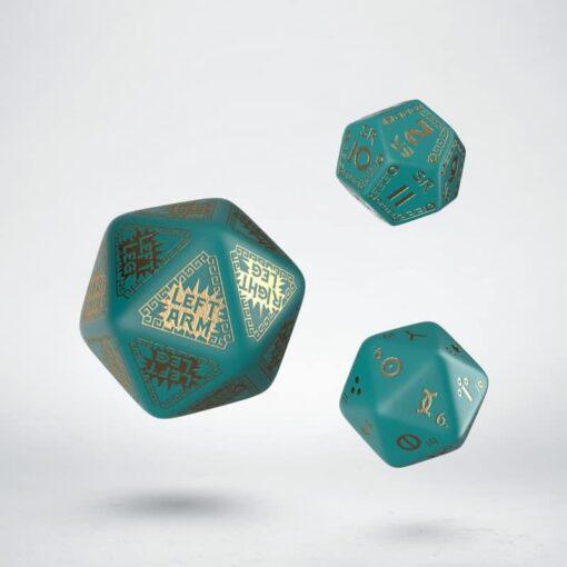 Q-Workshop Runequest Expantion Dice Turquoise Gold