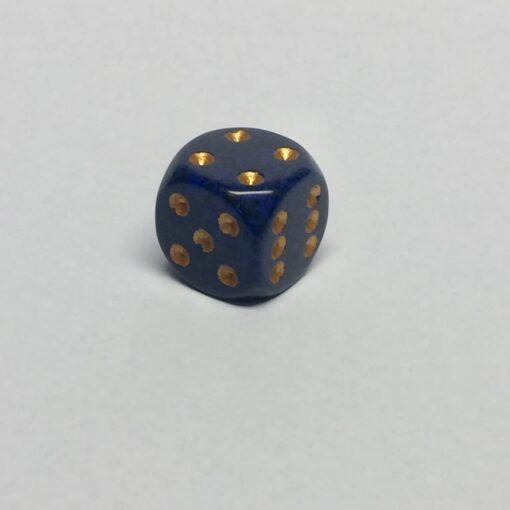 6 Vlakken Dobbelsteen Golden Cobalt™ 16mm