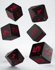 Dice Set Q-Workshop Cyberpunk Red Essential