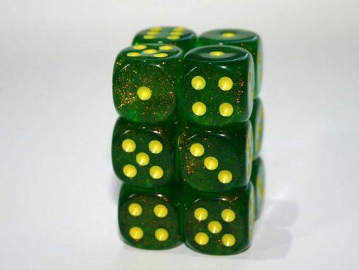 6 Vlakken Dobbelsteen Borealis II Maple Green 16mm