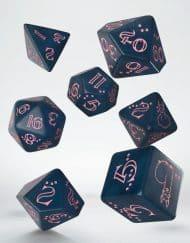 Polydice Set Q-Workshop Llama Dice Set Glittering Dark Blue Pink