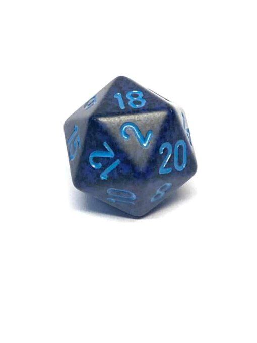20 Vlakken Dobbelsteen Speckled Cobalt 19mm
