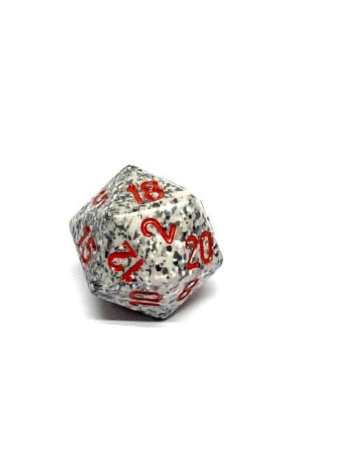 20 Vlakken Dobbelsteen Speckled Granite 19mm